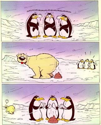 Jääkarhu ja pingviinit