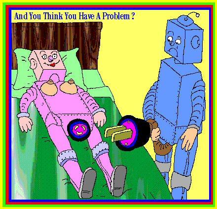Roboteilla on ongelma